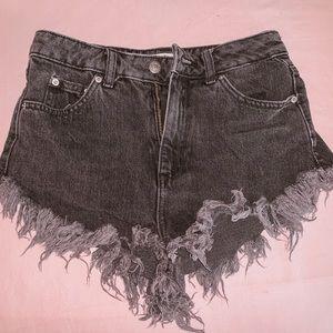 Top shop Black Denim Shorts